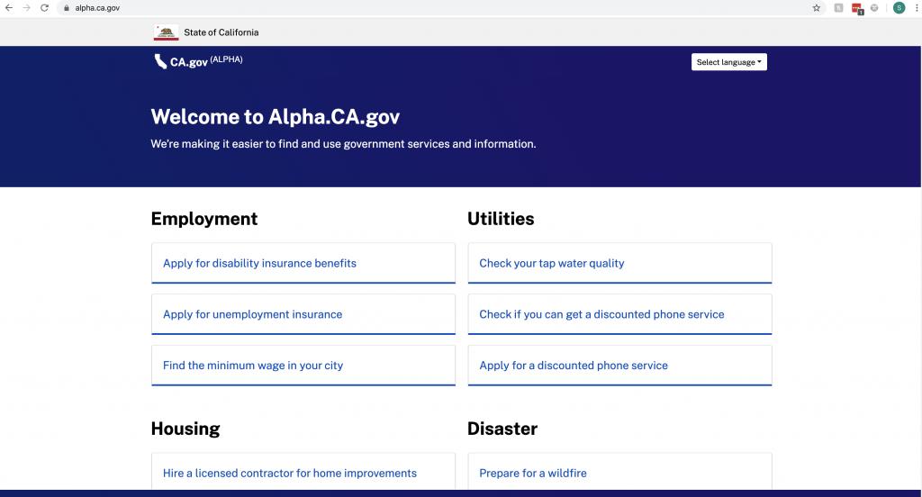 alpha.ca.gov
